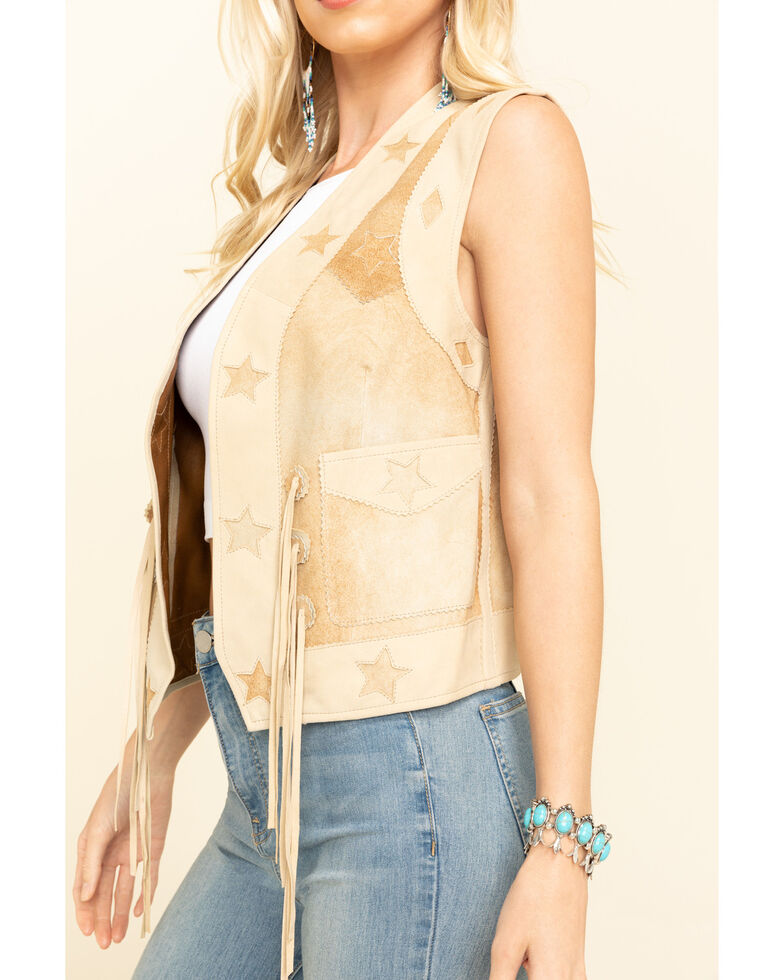 Tasha Polizzi Women's Starry Vest, Tan, hi-res
