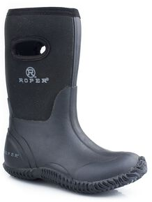 Roper Boys' Black Neoprene Boots, Black, hi-res