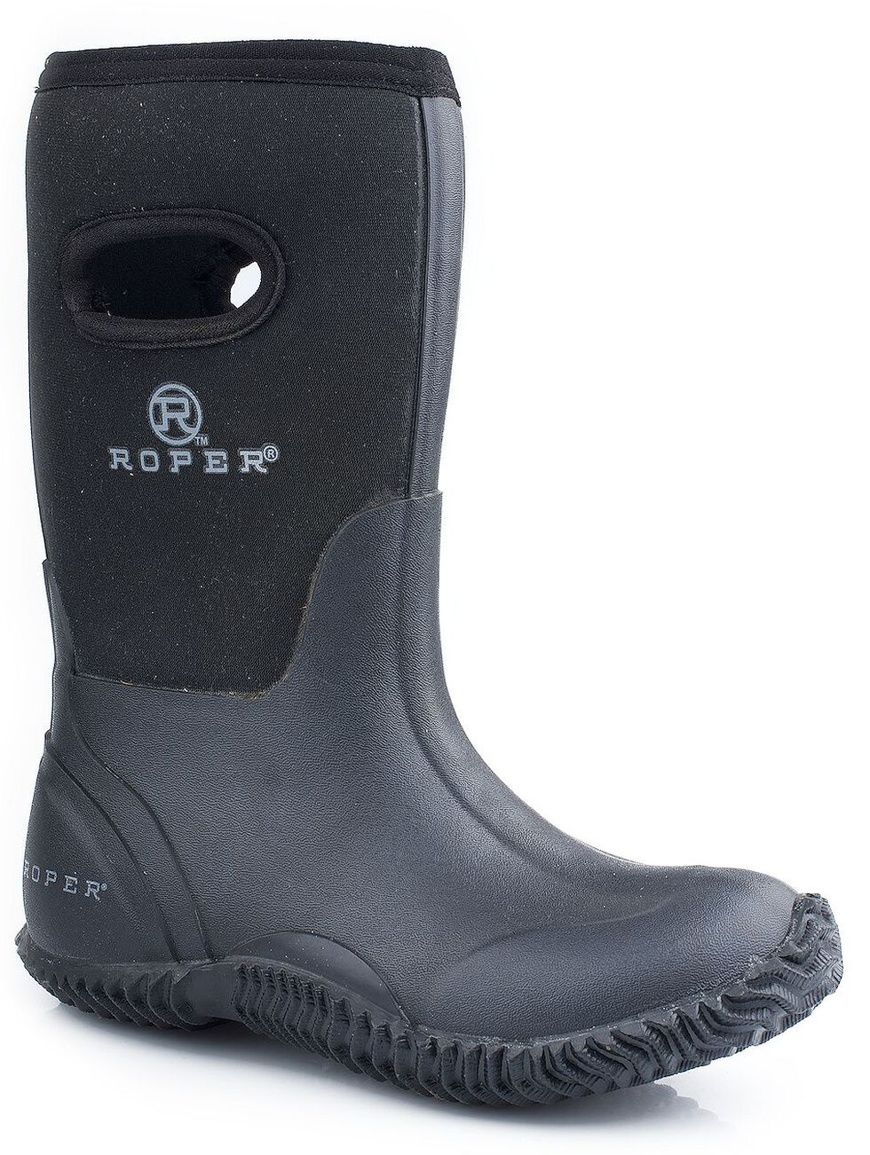 Roper Boys' Black Neoprene Boots, Black, hi-res