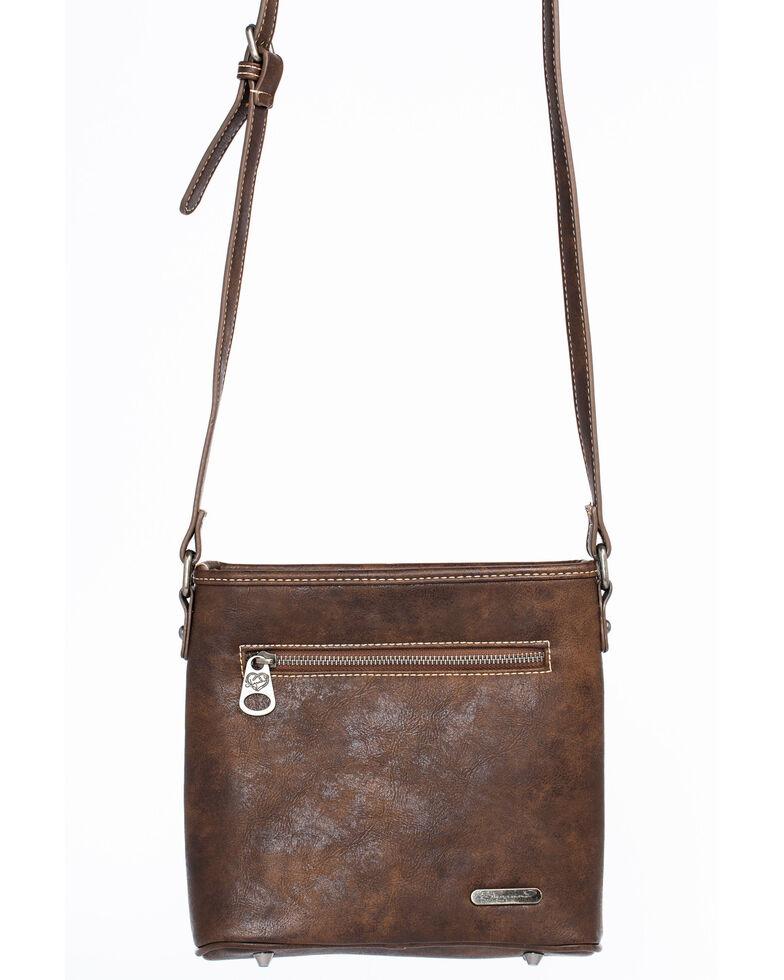 Shyanne Women's Glitter Underlay Crossbody Bag, Coffee, hi-res