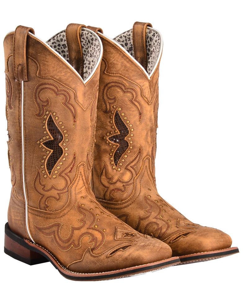 Laredo Women's Spellbound Western Boots - Square Toe  , Tan, hi-res
