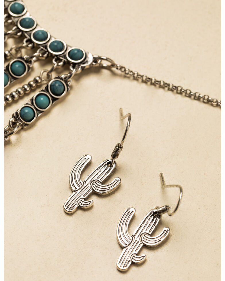 Shyanne Women's In The Oasis Cactus Jewelry Set , , hi-res