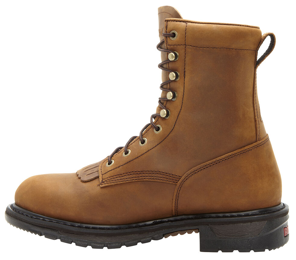 """Rocky Original Ride Waterproof 8"""" Lacer Boots - Round Toe, Brown, hi-res"""