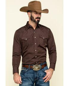 Ely Walker Men's Dark Tonal Stripe Long Sleeve Western Shirt , Multi, hi-res