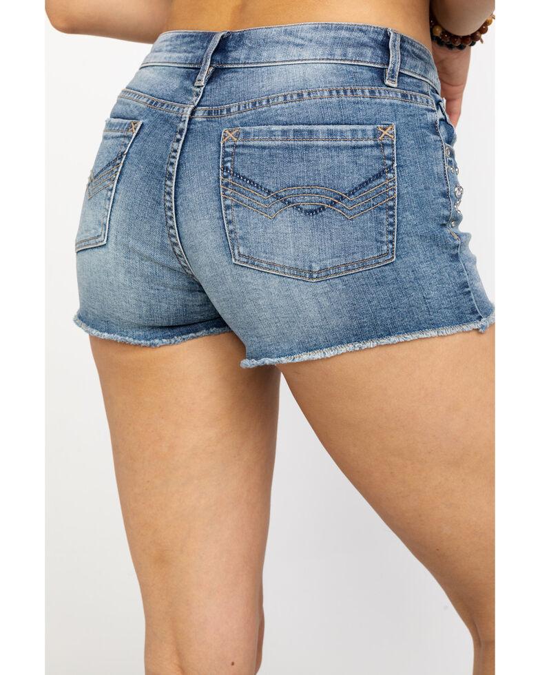Idyllwind Women's Stud Rocker Shorts , Blue, hi-res