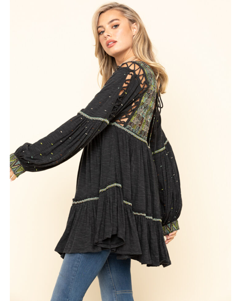 Free People Women's Much Love Tunic, Black, hi-res