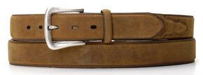 Nocona Basic Leather Belt - Big, Med Brown, hi-res