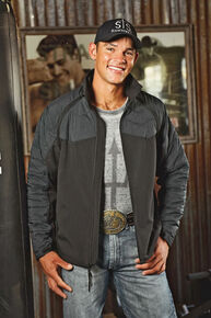 STS Ranchwear Men's Carson Convertible Vest/Jacket - 2XL-3XL, Black, hi-res
