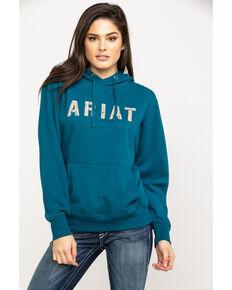 Ariat Women's R.E.A.L. Dream Teal Logo Hoodie, Teal, hi-res