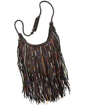 Kobler Leather Bead and Fringe Gypsy Bag , , hi-res
