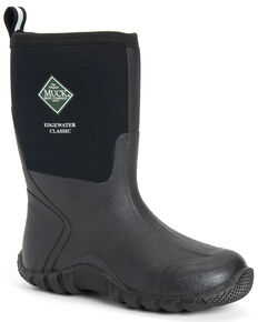 Muck Boots Men's Edgewater Classic Rubber Boots - Round Toe, Black, hi-res