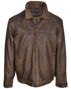 STS Ranchwear Men's The Rifleman Leather Jacket , Brown, hi-res
