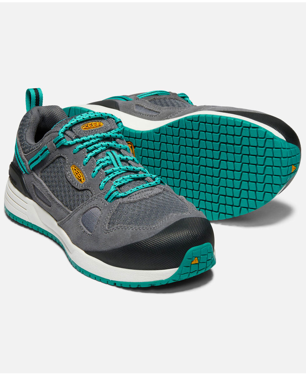Keen Women's Springfield Work Shoes - Aluminum Toe, Grey, hi-res