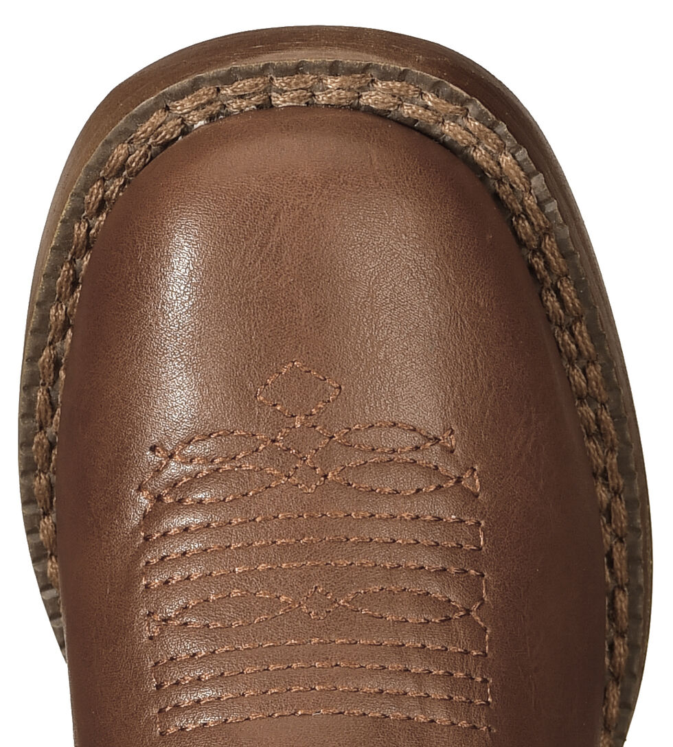 Roper Boys' Brown and Tan Texson Boots - Round Toe, Brown, hi-res