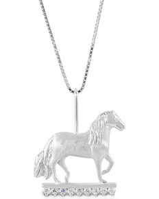 Kelly Herd Women's Clear Stone Paso Fino Pendant Necklace, Silver, hi-res