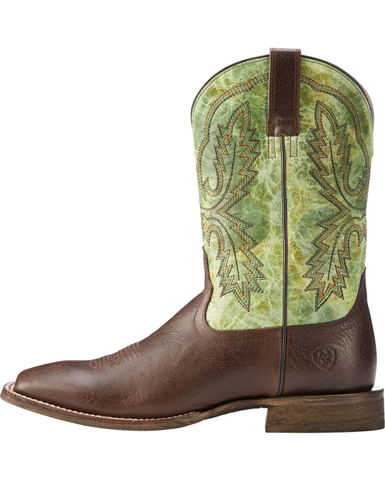 Ariat Men's Dark Brown Circuit Dayworker Western Boots - Square Toe , Dark Brown, hi-res