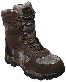Tecs Men's Lace-Up Camo Hunting Boots - Soft Toe, Brown, hi-res