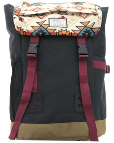 HOOey Aztec Topper II Backpack, Grey, hi-res