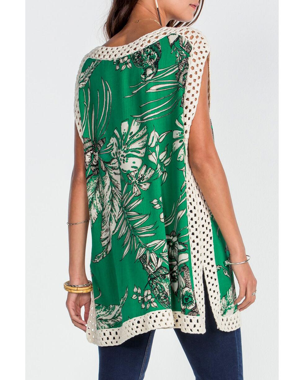 Miss Me Women's Green Tropic Escape Top , Green, hi-res