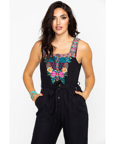 Johnny Was Women's Quinn Cropped Jumpsuit, Black, hi-res
