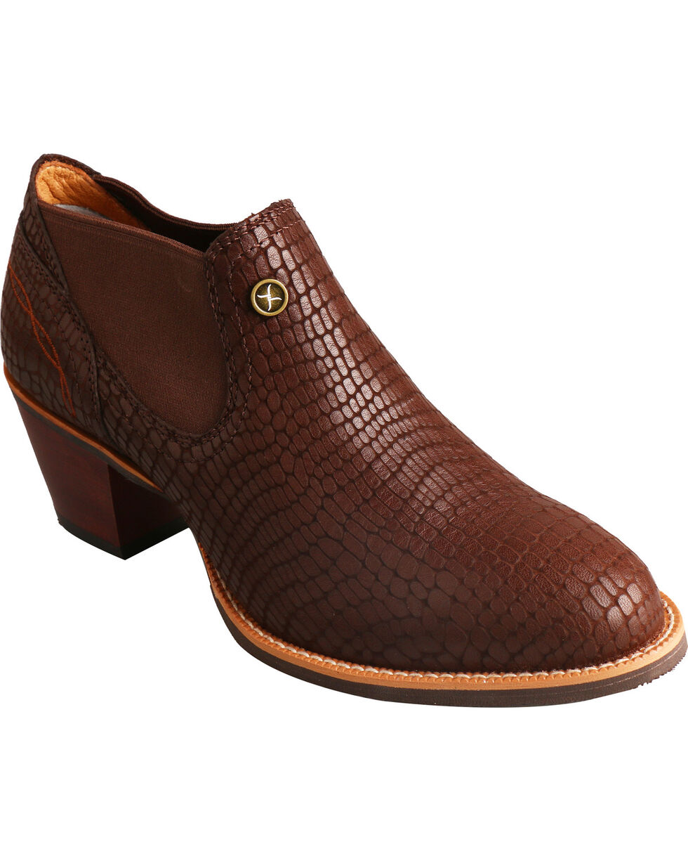 Twisted X Brown Fashion Cowgirl Booties - Round Toe, Brown, hi-res