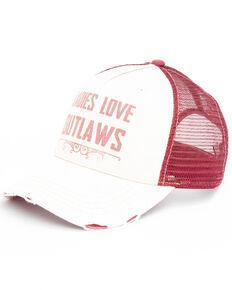 Idyllwind Women's Ladies Love Outlaws Baseball Cap , Ivory, hi-res