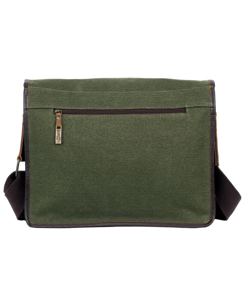 STS Ranchwear By Carroll Men's Canvas Messenger Bag, Olive, hi-res