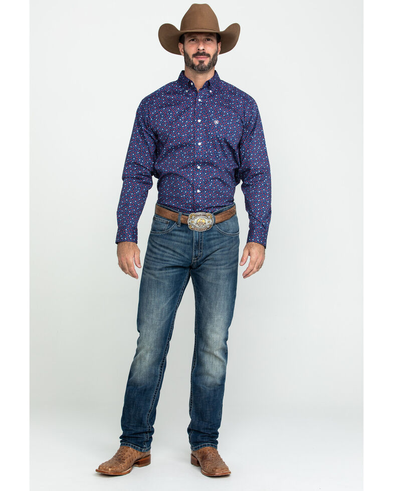 Ariat Men's Guliford Paisley Print Long Sleeve Western Shirt , Multi, hi-res