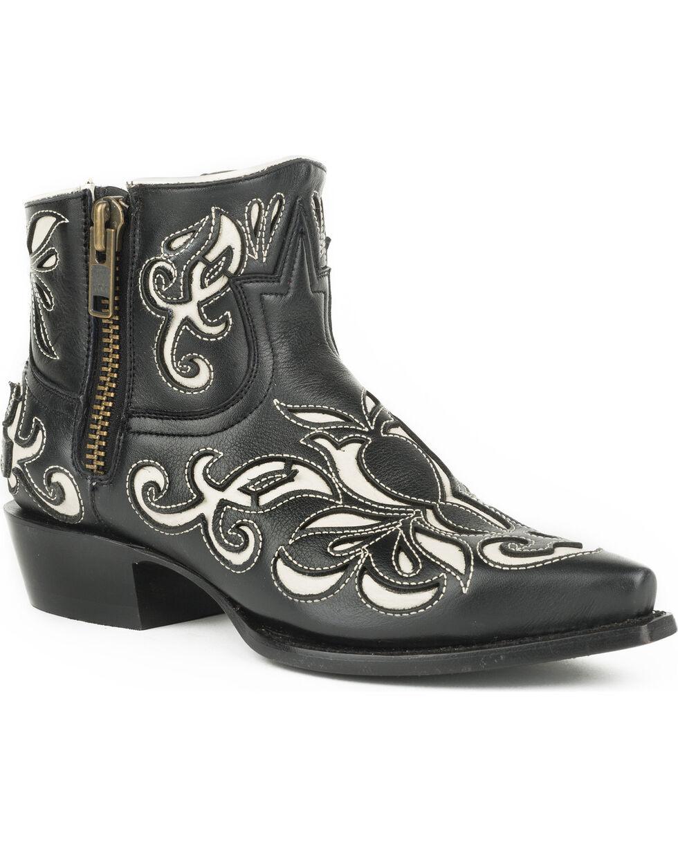 Stetson Women's Ivy Laser Cut Western Boots - Snip Toe, Black, hi-res