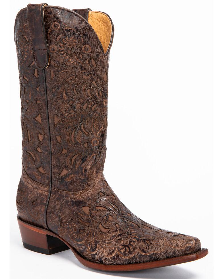 Shyanne Women's Tanya Western Boots - Snip Toe, Chocolate, hi-res
