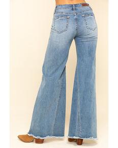 Rock & Roll Denim Women's Medium High Rise Extra Flare Jeans , Blue, hi-res