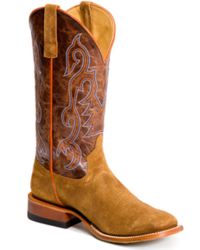 Horse Power Men's Growler Western Boots - Wide Square Toe, Tan, hi-res