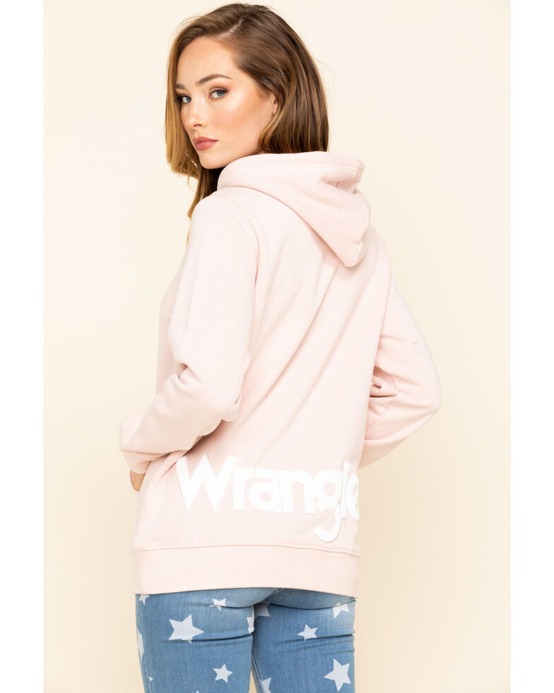 Wrangler Women's Rose Logo Hoodie Sweatshirt, Rose, hi-res