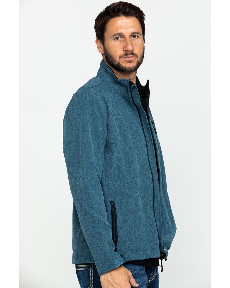 Wrangler Men's Heather Blue Trail Fleece Lined Zip Jacket , Heather Blue, hi-res