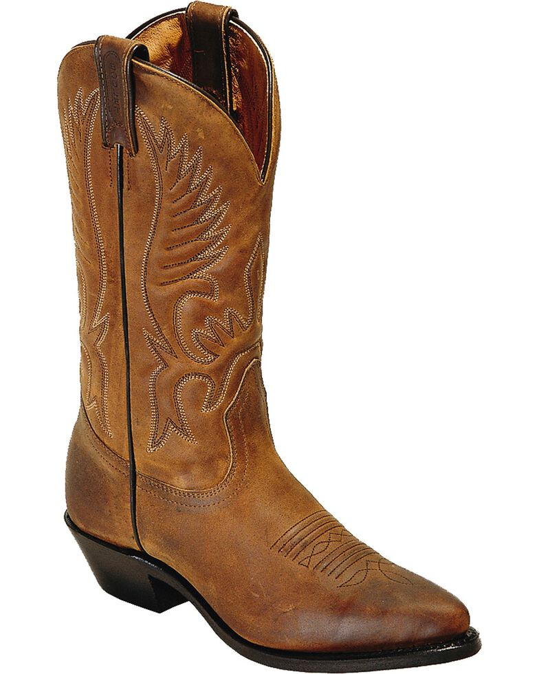 Boulet Women's Challenger Cowgirl Boots - Pointed Toe, Golden Tan, hi-res
