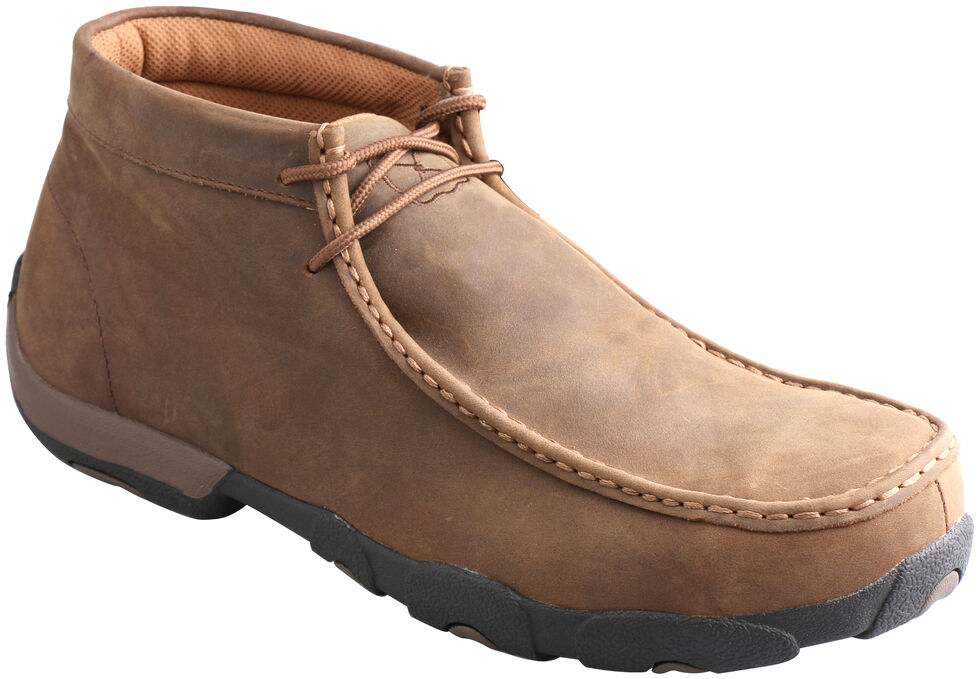 Twisted X Men's Brown Waterproof Driving Mocs , Saddle Brown, hi-res