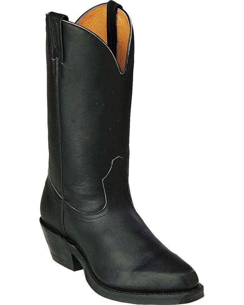 Boulet Men's Motorcycle Western Boots - Round Toe, Black, hi-res