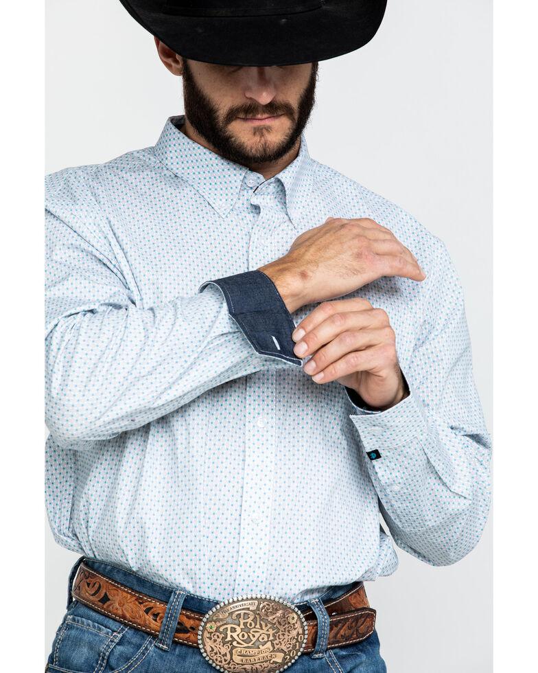 Cody James Core Men's Hawthorn Geo Print Long Sleeve Western Shirt , White, hi-res