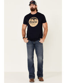 Brew City Beer Gear Men's Coors Circle Logo Graphic T-Shirt , Navy, hi-res