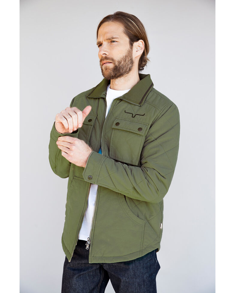Kimes Ranch Men's Green Monitor Quilted Shirt Jacket, Green, hi-res