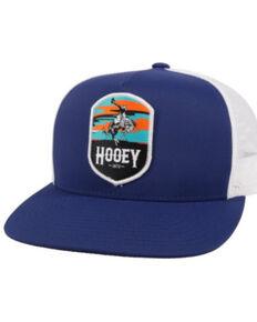HOOey Boys' Grey Cheyenne Patch Flex Fit Mesh Ball Cap , Navy, hi-res