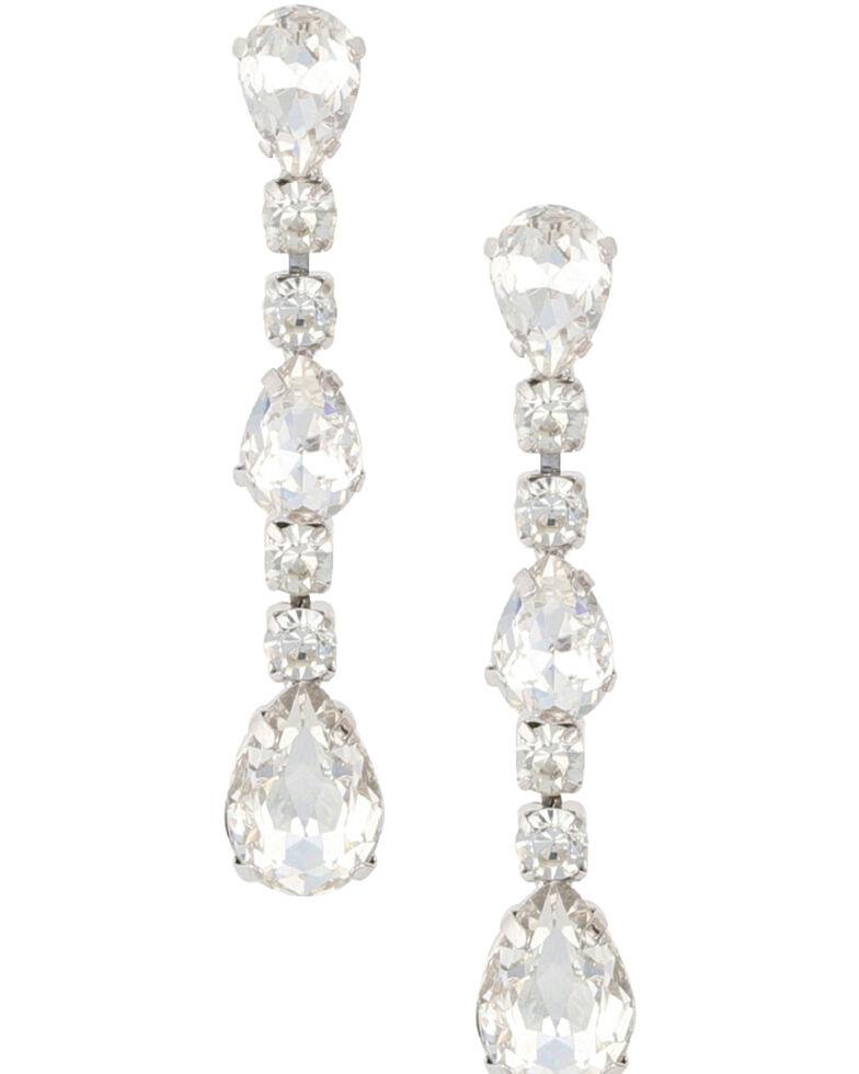 Montana Silversmiths Women's Sparkle Strand Earrings, Silver, hi-res