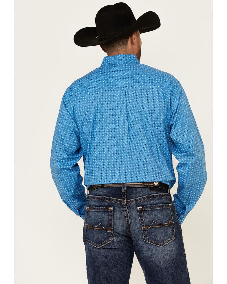 Cinch Men's Blue Stretch Geo Print Long Sleeve Western Shirt , Blue, hi-res