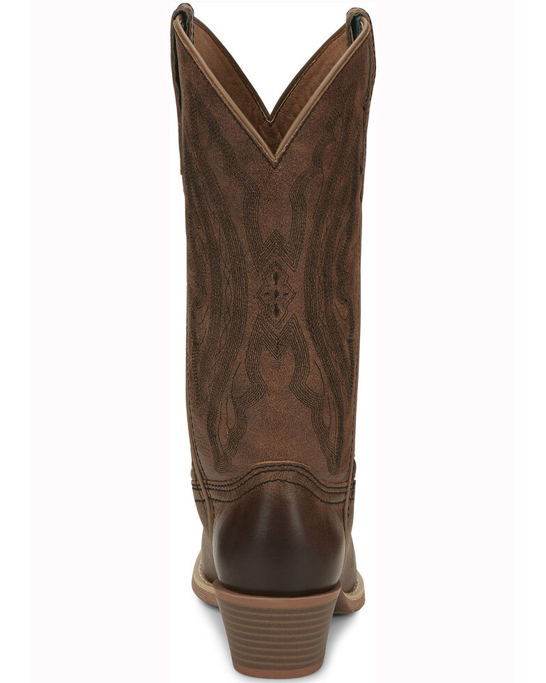 Justin Women's Roanie Western Boots- Round Toe, Sand, hi-res