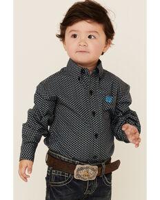 Cinch Toddler Boys' Black Geo Print Long Sleeve Button-Down Western Shirt , Black, hi-res