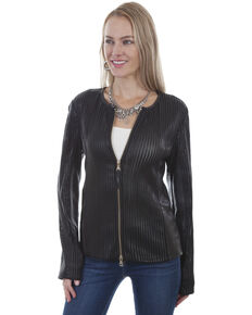 Leatherwear by Scully Women's Black Zip Leather Jacket, Black, hi-res