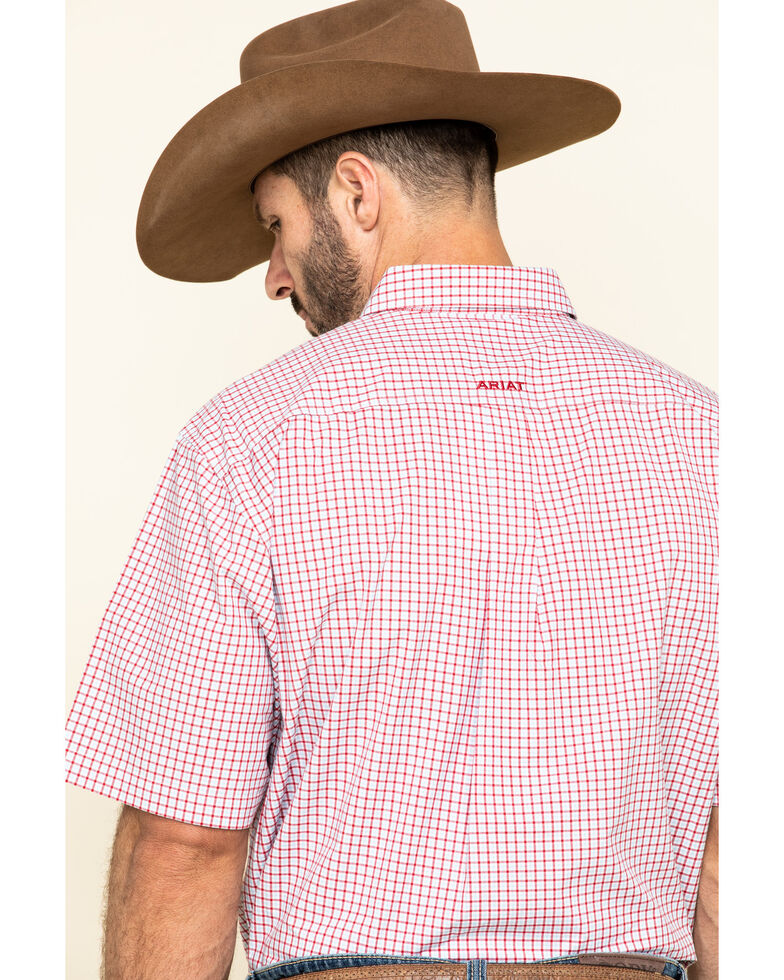 Ariat Men's Norland Multi Plaid Short Sleeve Western Shirt , Multi, hi-res