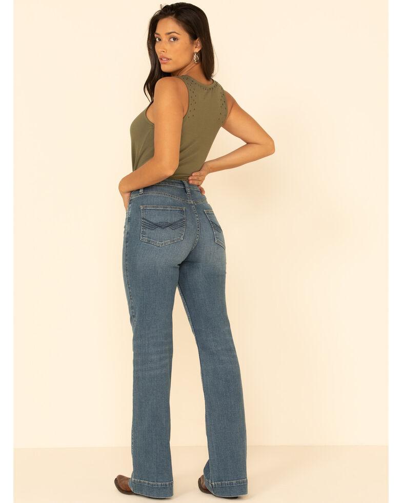 Idyllwind Women's Free Range High Risin' Button Front Trouser Jeans, Light Blue, hi-res