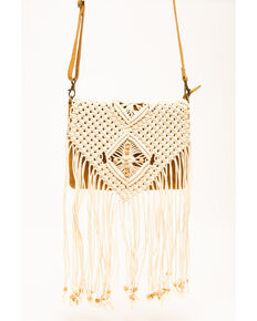 Shyanne Women's Macrame Shoulder Bag, Natural, hi-res