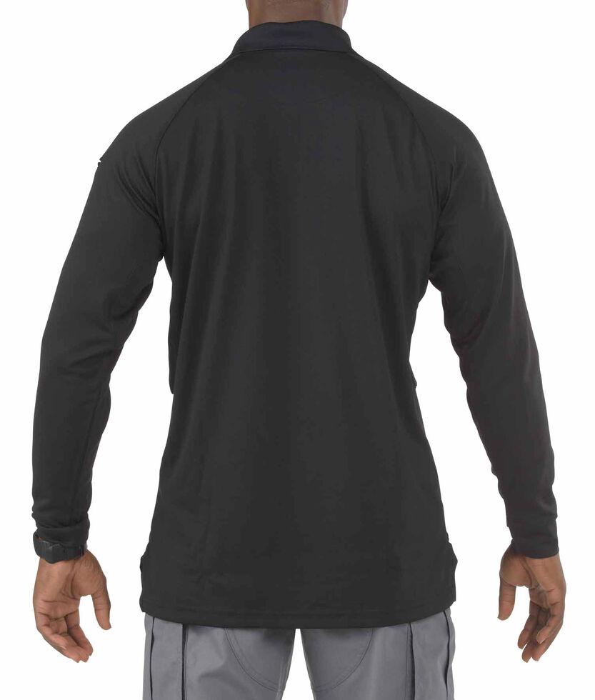 5.11 Tactical Performance Long Sleeve Polo - 3XL, Black, hi-res
